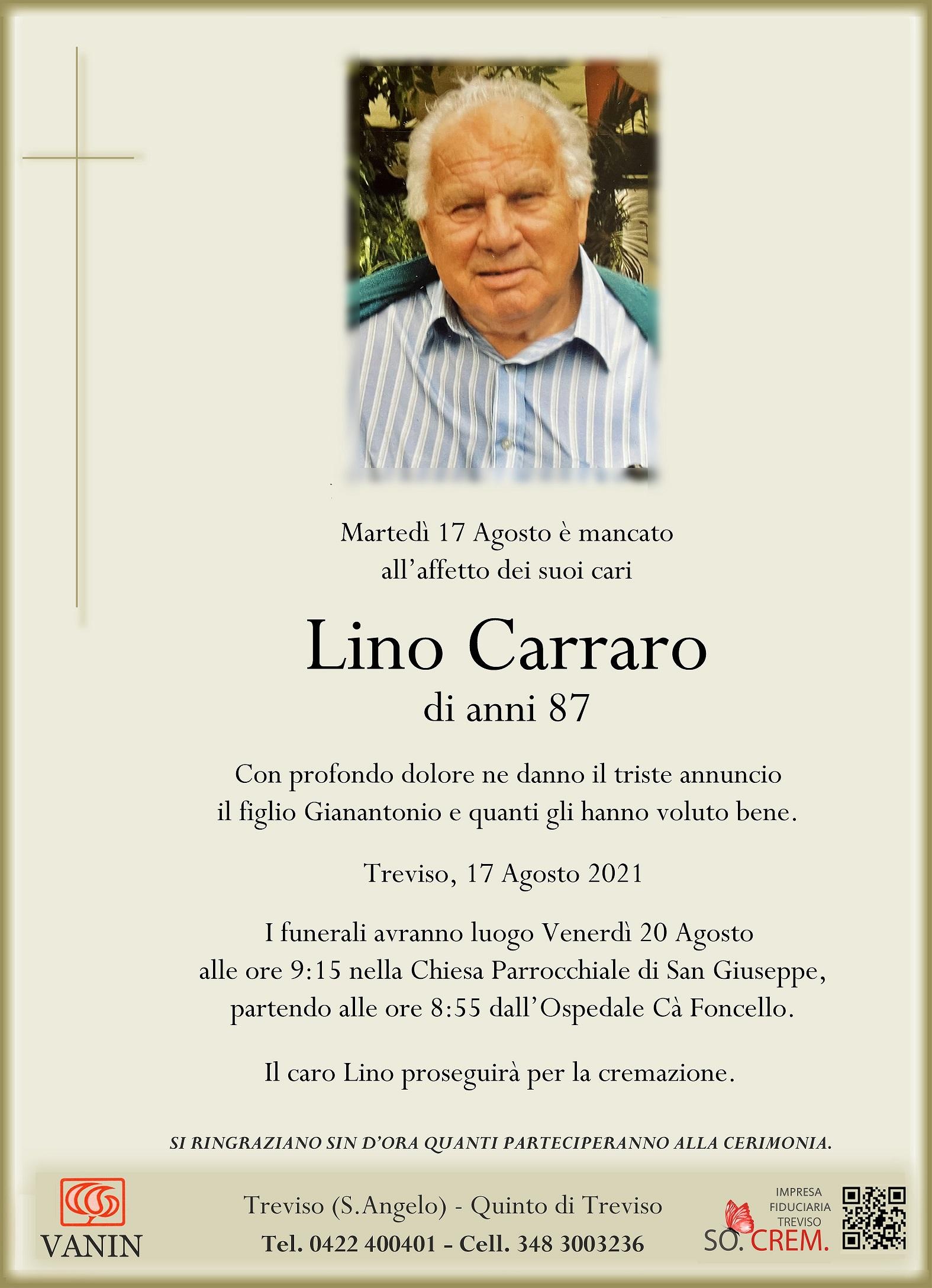 DEF. LINO CARRARO